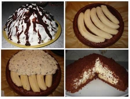 Банановый торт с вареной рецепт с фото